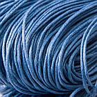 Шнур Вощеный, Хлопковый, подходит для плетения браслетов, Цвет: Синий, Размер: Толщина 1мм, около 80м/связка, (УТ100005750)