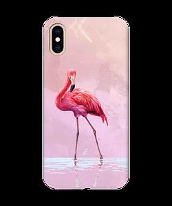Чехол с рельефным принтом Flamingo