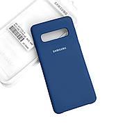 Силиконовый чехол на Samsung S10 Plus Soft-touch Denim