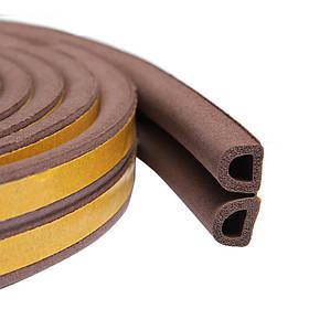 Уплотнитель самоклеящийся Technics тип D коричневый 100 м (10-772)
