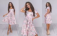 Женское платье из софта (3 цвета) - Пудра ТК/-1217, фото 1