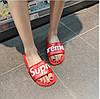 Шлепанцы Supreme красные (детские размеры), фото 4
