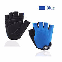 Перчатки для велоспорта, фитнеса мужские, женские (Morethan) Синие, XL