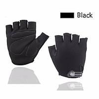 Перчатки для велоспорта, фитнеса мужские, женские (Morethan) Черные, XL, фото 1