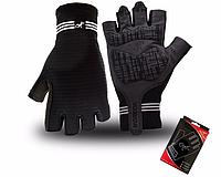 Перчатки для велоспорта, фитнеса мужские, женские (Morethan) L