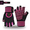 Перчатки для тренажерного зала, фитнеса мужские, женские с напульсником (Morethan) Розовые, M