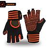 Перчатки для тренажерного зала, фитнеса мужские, женские с напульсником (Morethan) Оранжевые, L