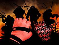 Перчатки для велоспорта, фитнеса мужские, женские (Morethan) Красные, L, фото 1
