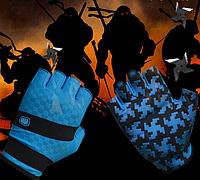 Перчатки для велоспорта, фитнеса мужские, женские (Morethan) Синие, M, фото 1