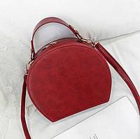 Женская маленькая полукруглая сумка красная, фото 1