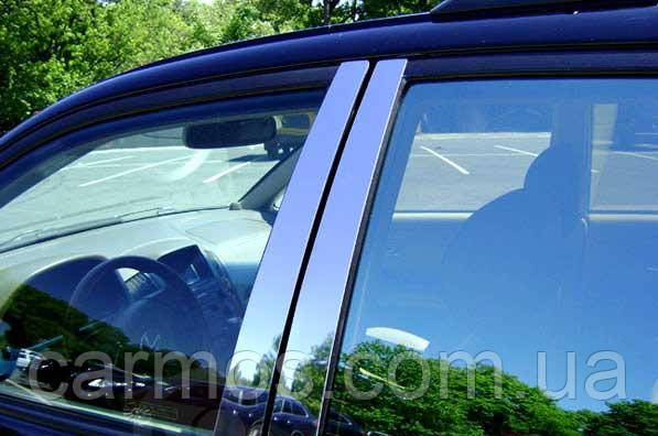 Хром накладки на стійки Mitsubishi pajero wagon (мітсубісі паджеро вагон) 2011 - , нерж