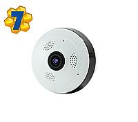 """IP WiFi Камера Он-лайн Видеонаблюдения, Панорамная Система """"Рыбий глаз"""", VR360, Модель: """"ШАЙБА"""""""