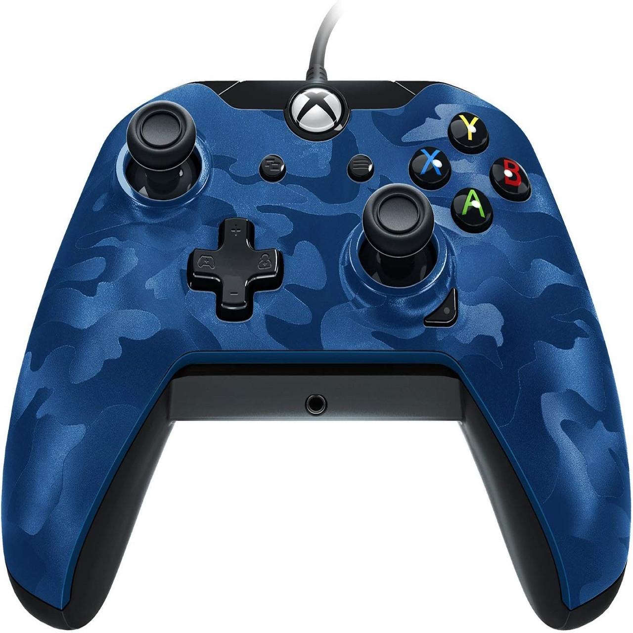 Геймпад (джойстик) Microsoft Xbox ONE,PC Wired Controller PDP XO Blue-Camo  (проводной)