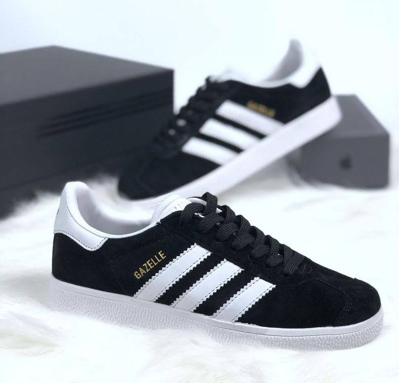 Adidas Gazelle Black White   ????????? ??????? ? ???????; ????? ?????