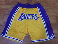 ✔️ Шорты Lakers жёлтые