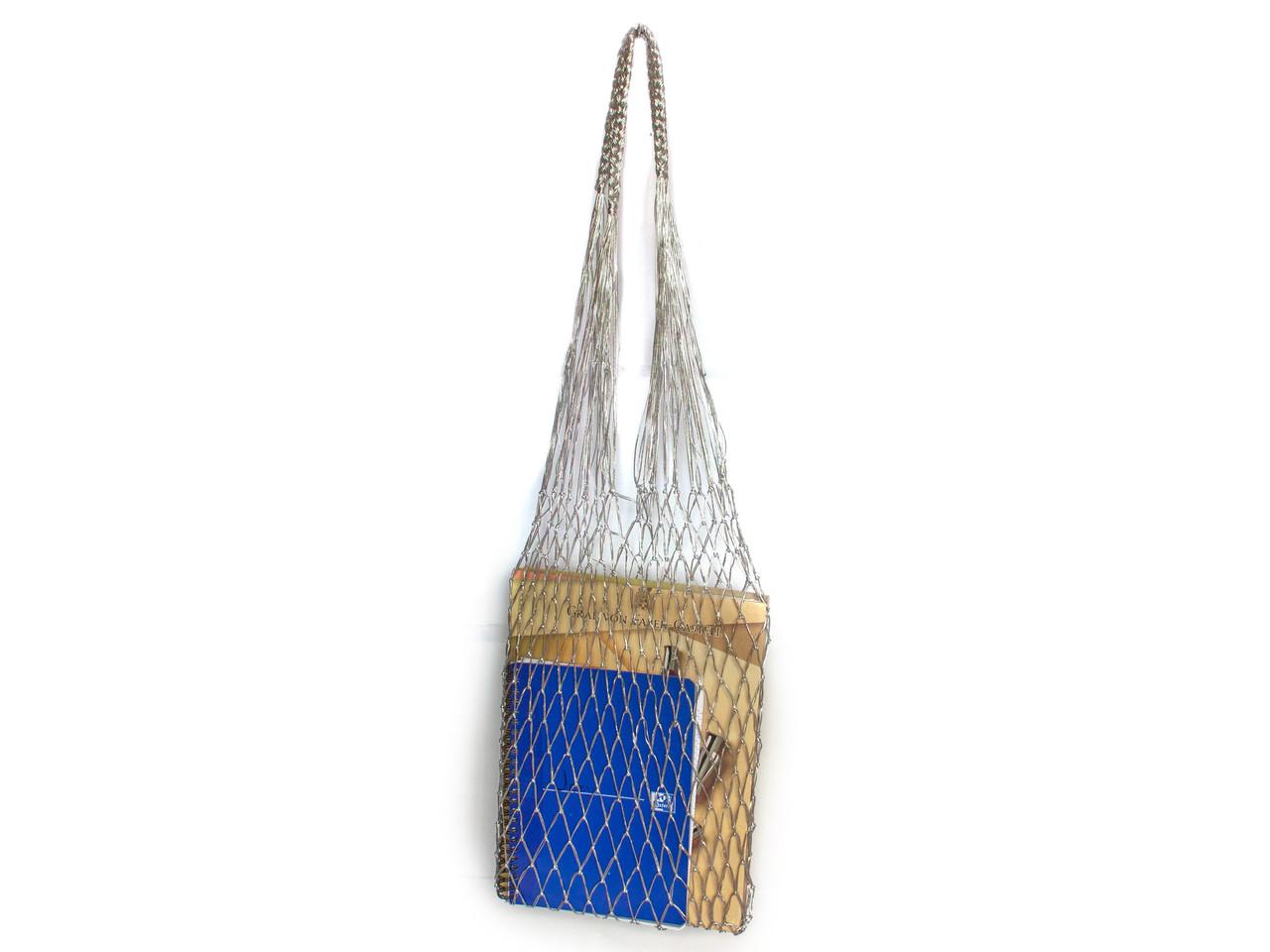 Сумка на плечо - Серебряная сумка - Подарочная сумка - Авоська - Сумка для вечеринок