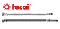 """Шланг для воды в нерж оплётке Tucai 3/8"""" М10 50 см игла длинная и короткая ПАРА (гайка-М10 в смеситель)"""