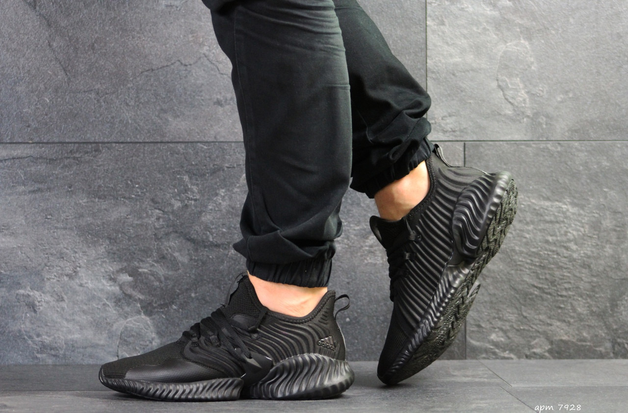 Мужские летние кроссовки Adidas,черные,сетка 44,45р