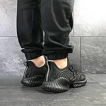 Мужские летние кроссовки Adidas,черные,сетка 44,45р, фото 2