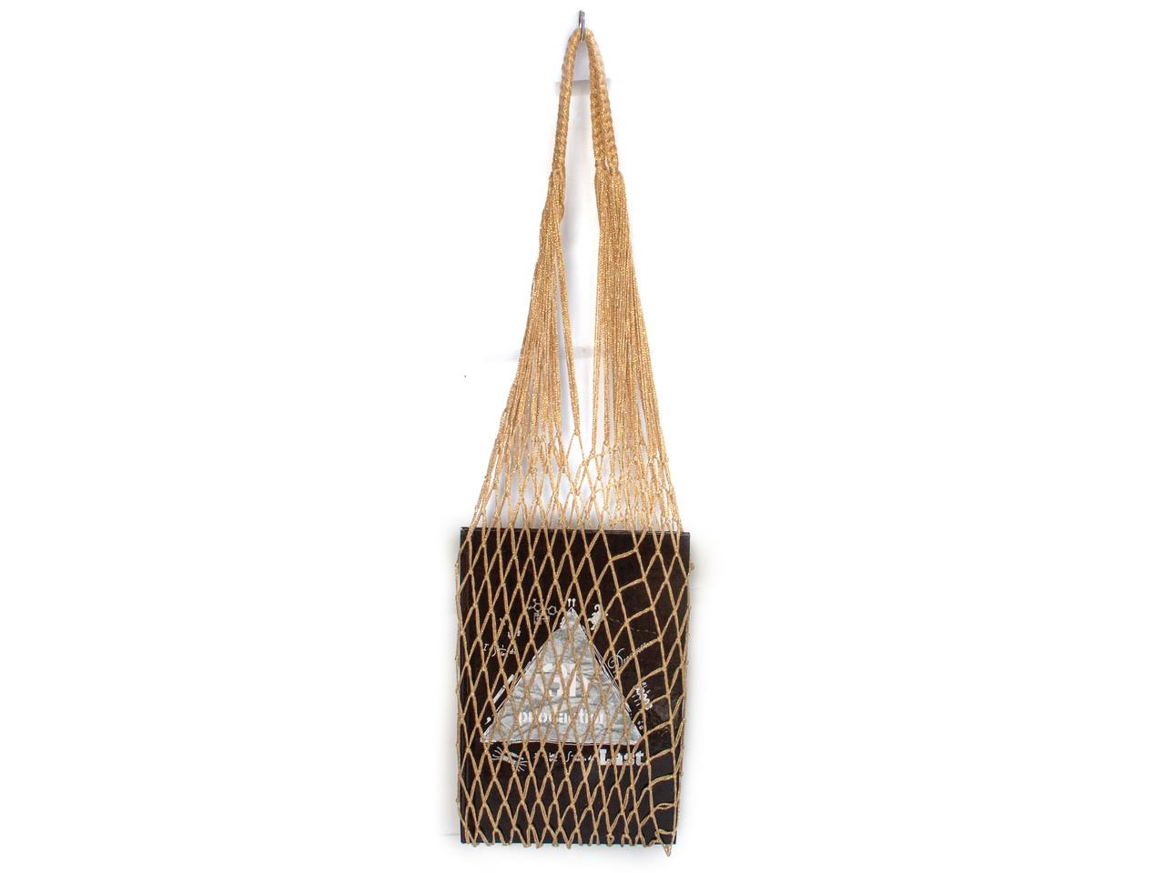 Сумка для вечеринок - Авоська - Золото - Подарочная сумка