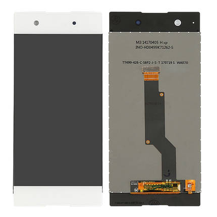Дисплей (экран) для Sony G3121 Xperia XA1 Dual с сенсором (тачскрином) белый, фото 2