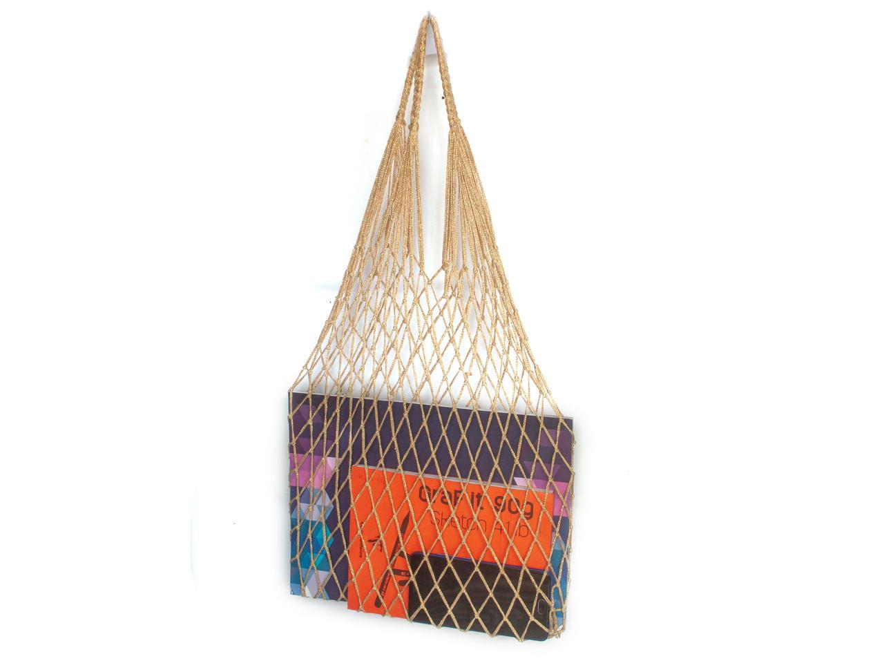 Сумка для вечеринок - Сумка на плечо-  Авоська - Золото - Подарочная сумка