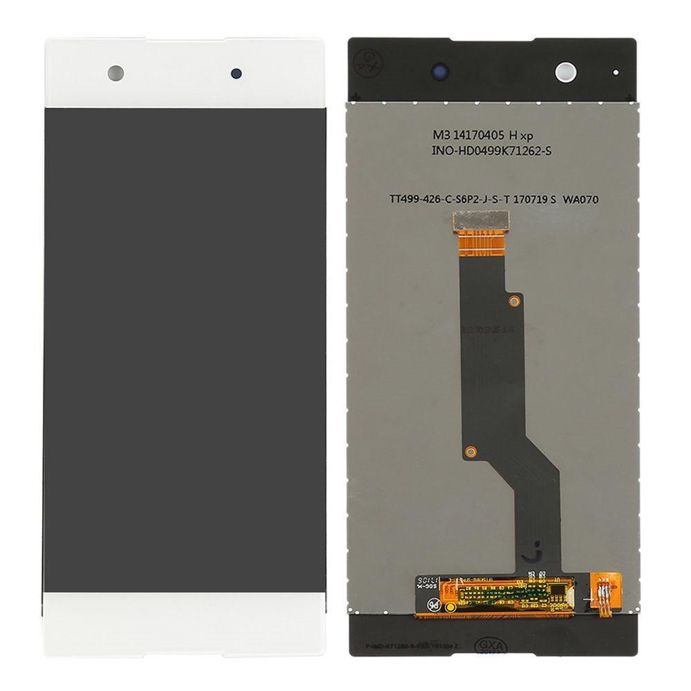 Дисплей (экран) для Sony G3121 Xperia XA1 Dual с сенсором (тачскрином) белый Оригинал