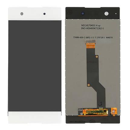 Дисплей (экран) для Sony G3121 Xperia XA1 Dual с сенсором (тачскрином) белый Оригинал, фото 2