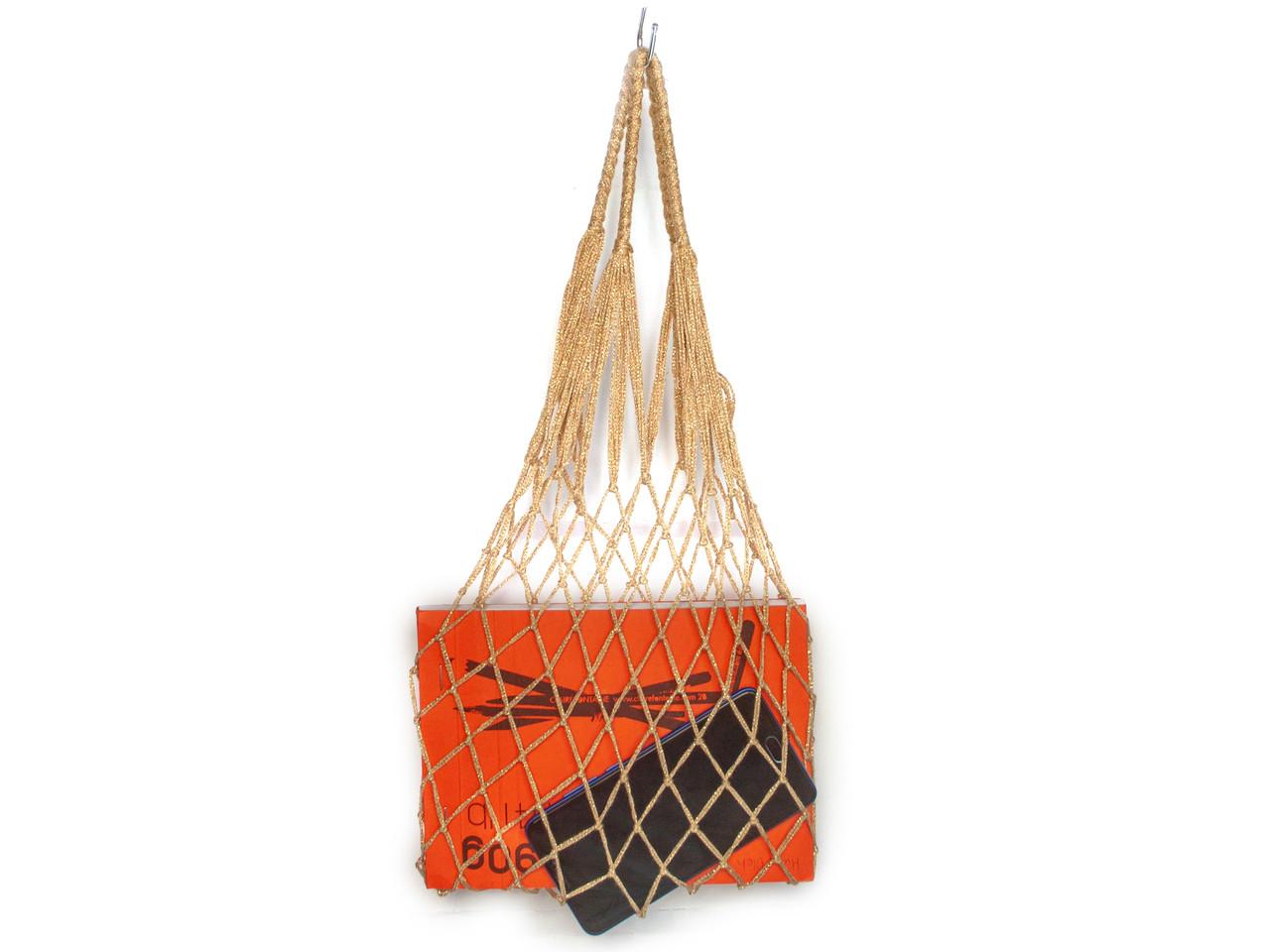 Мини сумка - Сумка для вечеринок - Авоська - Золото - Подарочная сумка