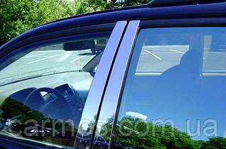 Хром накладки на стойки volkswagen touareg (2010 -    ) (таурег), нерж