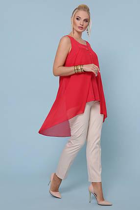 Женская стильная майка-туника большой Большой размер XL, XXL, XXXL, фото 2