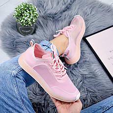 """Кроссовки женские """"Podrobe"""" розового цвета из текстиля. Кеды женские. Мокасины женские. Обувь женская, фото 3"""