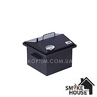 Коптильня Крышка Домиком 300х300х250 с термометром окрашенная, фото 1