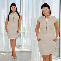 Платье женское льняное Норма+Батал