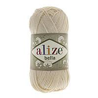 Пряжа хлопок Alize Bella 01
