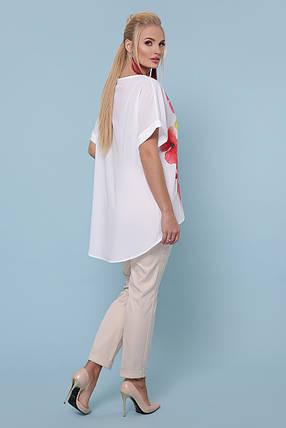 Женская стильная туника Маки Большой размер XL, XXL, XXXL, фото 2
