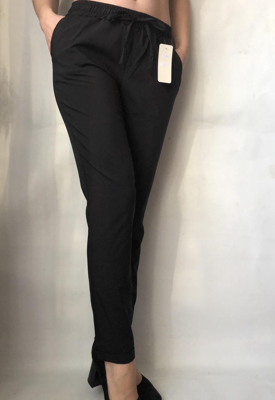 Женские летние штаы ткань софт в черном цвете