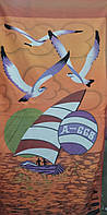 Пляжное полотенце с ярким рисунком.Разные цвета.