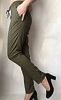 Женские летние штаы ткань софт цвет хаки, фото 1