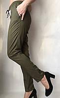 Женские летние штаы ткань софт цвет хаки