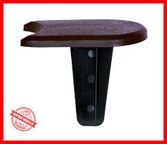 Комплект бордюр палисада Prosperplast Flat коричневый 3,8 м