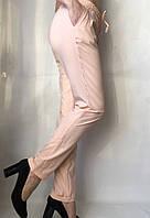 Женские летние штаы ткань софт в нежно розовом цвете, фото 1