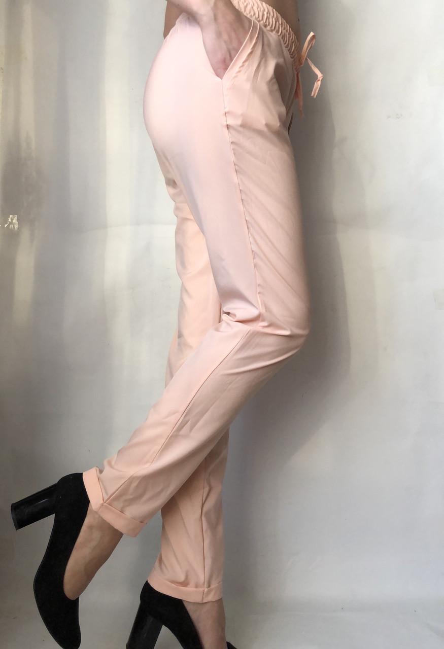 Женские летние штаы ткань софт в нежно розовом цвете