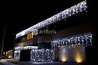 Уличные гирлянды для оформления фасада, елки, деревьев, светодиодная гирлянда с мерцанием, снежинки