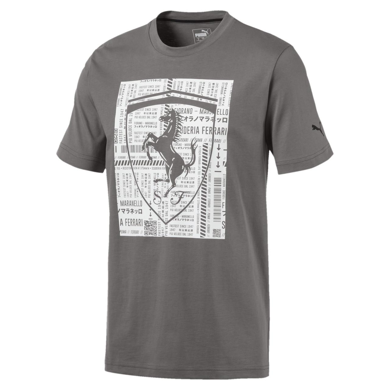 Мужская спортивная футболка Ferrari Big Shield Tee