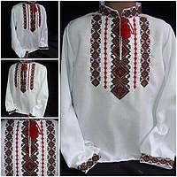 """Рубашка вышитая """"Святодар"""" для мальчика, домотканое полотно, 4-12 лет, 310/260 (цена за 1 шт. + 50 гр.)"""