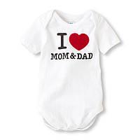 "Детский боди ""I love Mom & Dad""  9-12, 18-24 месяца"