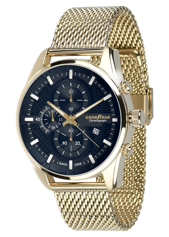 Часы мужские Goodyear G.S01229.01.03 золотые