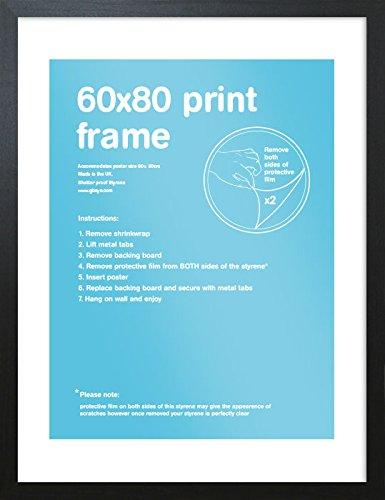GB Eye Art Print Frame, 60 x 80cm, Black - Рамка