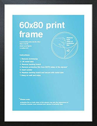 GB Eye Art Print Frame, 60 x 80cm, Black - Рамка, фото 2
